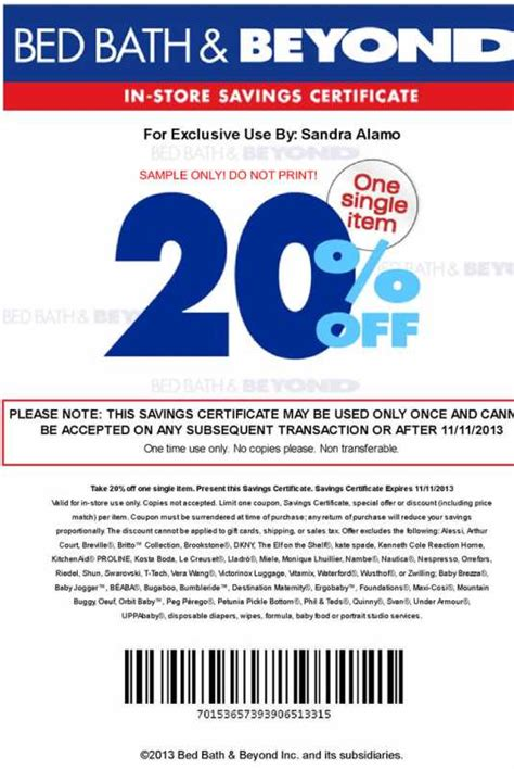 coupon bed bath and beyond 20 off how to get bed bath and beyond coupons bed bath and