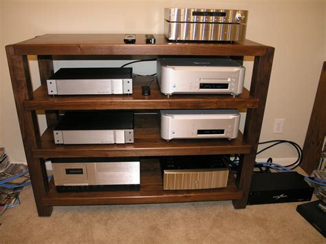 Audio Rack Timbernation Walnut Stereo Rack 48 Quot Wide Shelves Stands