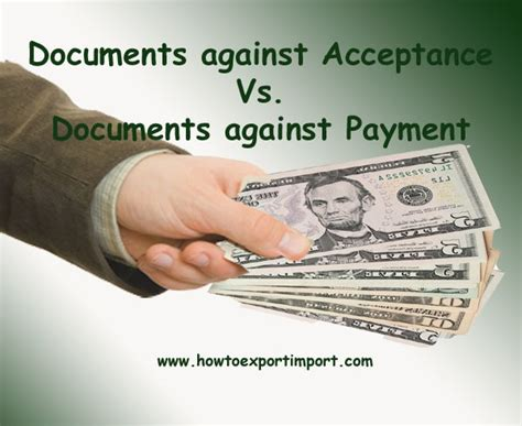 Difference Between Acceptance And Letter Of Credit Difference Between Da And Dp Terms Of Payment