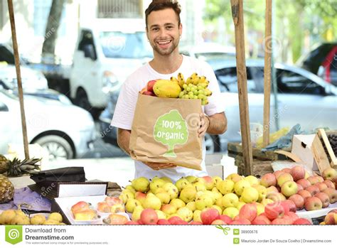 carrying bag of food carrying shopping bag with organic food stock photo image 38900676