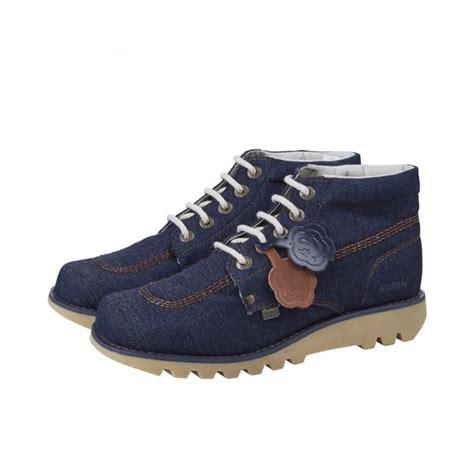s kick hi denim blue from kickers uk