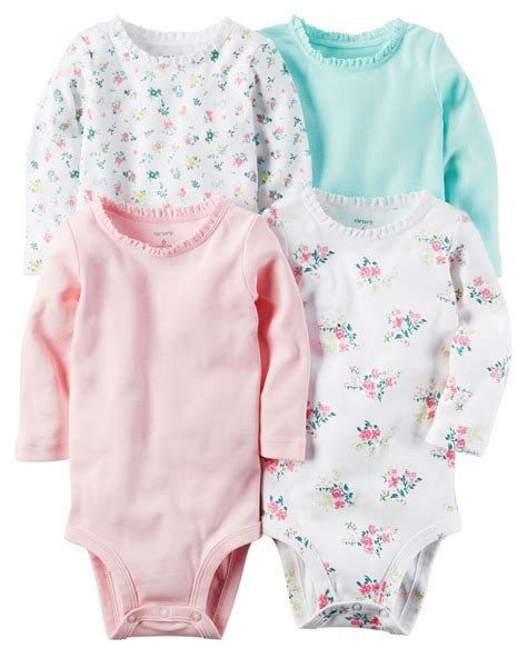 Bodysuit Carters 4 pack sleeve original bodysuits babies clothes