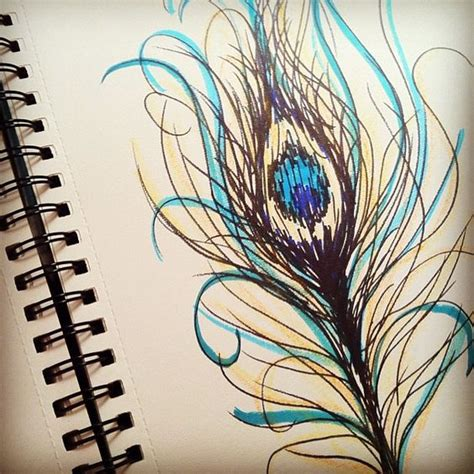 pretty peacock feather drawing creativefan peacock feather sketch by ssylviadangg via flickr to