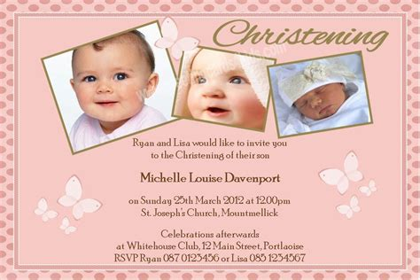 design invitation for christening personalised girl photo christening invitations design 5