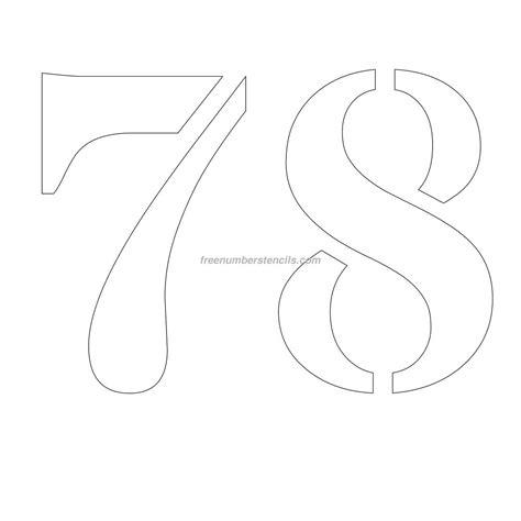 printable 12 inch number stencils free 12 inch 78 number stencil freenumberstencils com