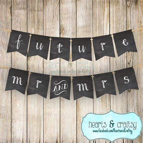 Wedding Banner For Photos by Future Mr Mrs Wedding Banner Photo Prop Chalkboard Style