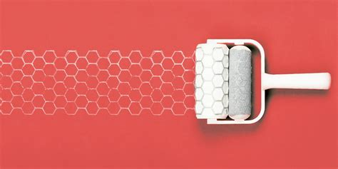 honeycomb pattern roller introducing chic 3d printed patterned paint rollers