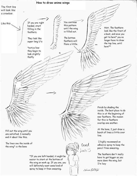 doodle draw tutorial anime drawing tutorial on wings tutorials refs