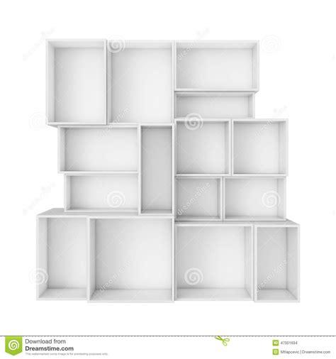 white box shelves empty abstract white shelves isolated on white background