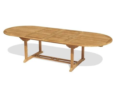 Extending Patio Table Brompton Teak 6 Seater Extending Dining Set