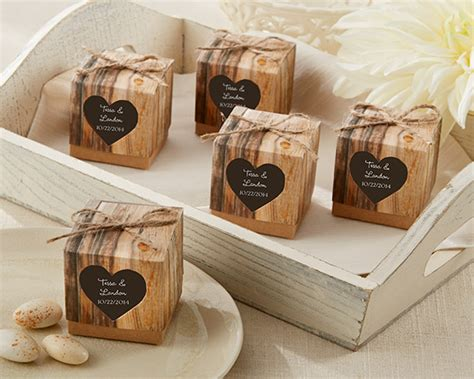 """""""Hearts in Love"""" Rustic Favor Box (Set of 24)"""