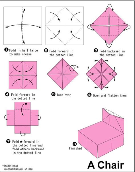 How To Make A Paper Chair - 17 best images about origami on origami paper