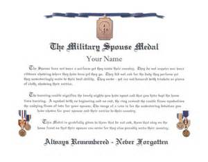 Navy Retirement Certificate Template by Spouse Medal