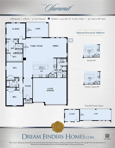 summit floor plans summit dream finders homes