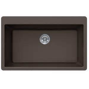 Quartz Kitchen Sinks Mocha Quartz Composite Single Bowl Undermount Drop In Kitchen Sink 33 X 21 X 9 Inch
