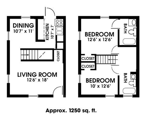 2 bedroom one bath apartment floor plans 2 bedroom bath apartment floor plans latest