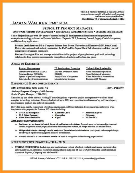 professional accomplishments resume bio letter format