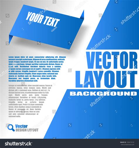 blue layout vector blue layout vector design of page 193413122 shutterstock