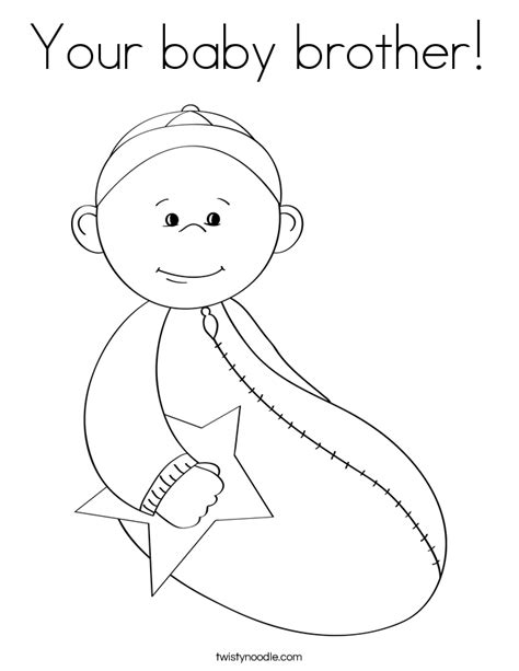 new baby brother coloring page az coloring pages