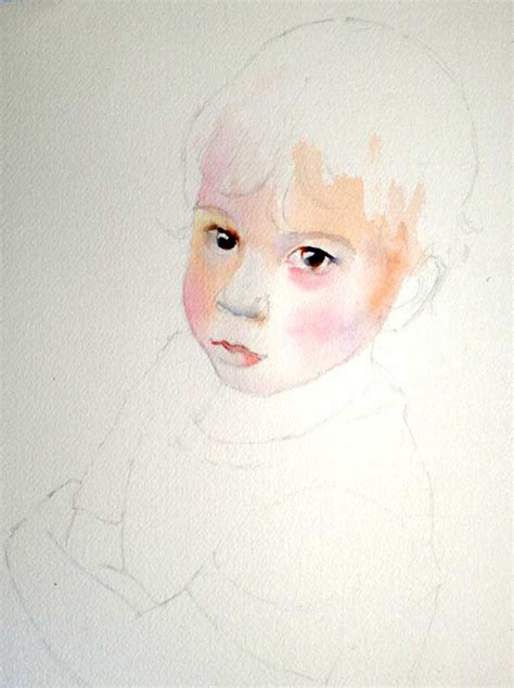 painting for barbies step by step watercolor portrait of a child by
