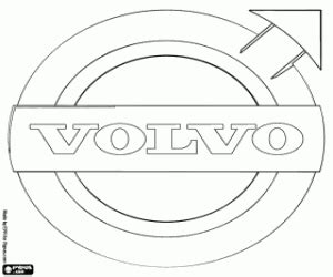 volvo logo coloring printable game