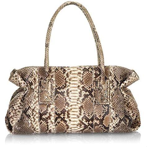 The W Carlos Falchi How To Get A Free Purse by Carlos Falchi Large Glazed Python Doctor Handbag