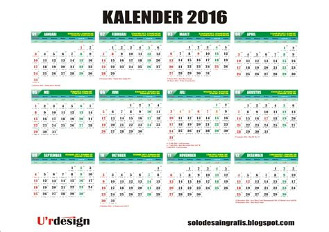desain kalender 2016 lengkap gregorian and hijri calendar 2016 related keywords