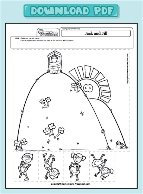 preschool coloring pages jack and jill free coloring pages of jack y jill