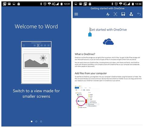 android word microsoft word excel and powerpoint now available on android phones androidpit