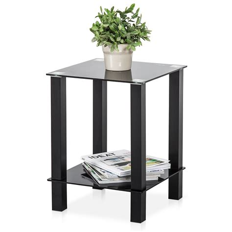 fitueyes desktop tables storage shelf living room