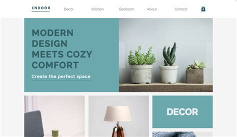 home decor website templates store wix