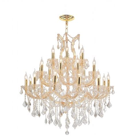 maria theresa gold crystal chandelier in white bedroom w83003g38 maria theresa 28 light gold finish and clear
