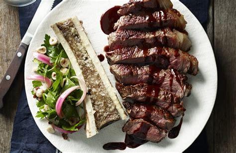 Aus Beef Bone Marrow grass fed sirloin with roasted bone marrow and wine jus bbq