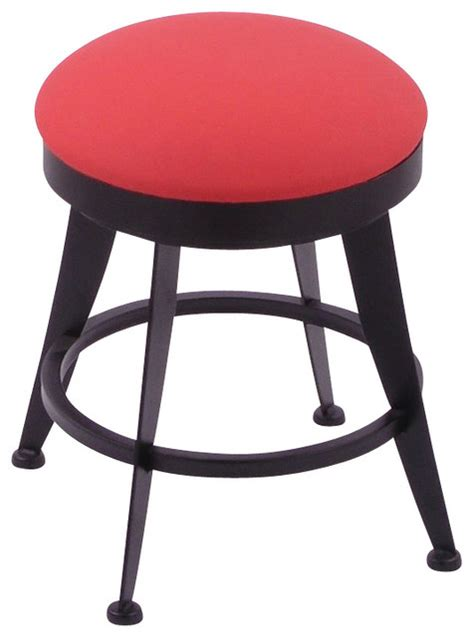 18 High Stool by Laser 18 High Upholstered Backless Swivel Stool