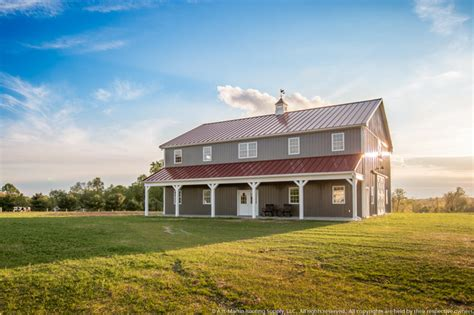 two story pole barn two story pole barn with colonial red abseam roof and