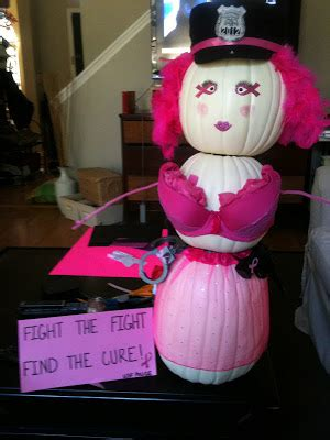 Pumpkin Decorating For Breast Cancer Awareness by And Then She Said November 2012