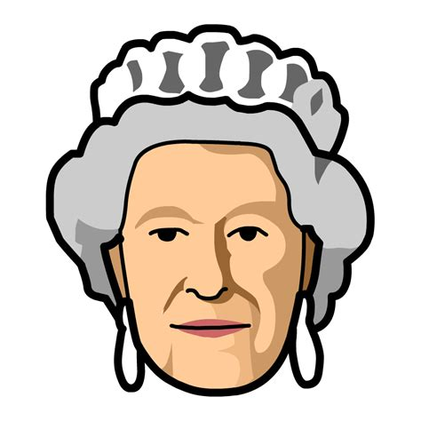 Picture of queen image black and white stock ... Free Clipart Queen Elizabeth