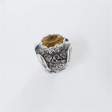 citrine gemstone silver ring by pitango pitangorings