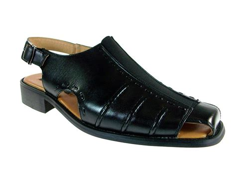 mens fashion closed toe casual dress shoe sandals w