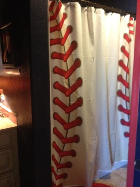 baseball shower curtain 25 best ideas about baseball bathroom on pinterest boys
