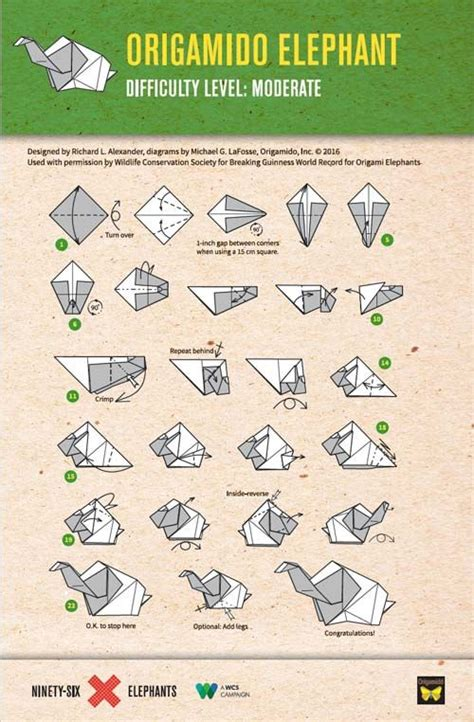 Elephant Origami Diagram - 25 best ideas about origami elephant on paper