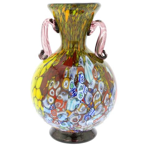 Millefiori Vase by Murano Glass Vases Murano Millefiori Glass Vase With