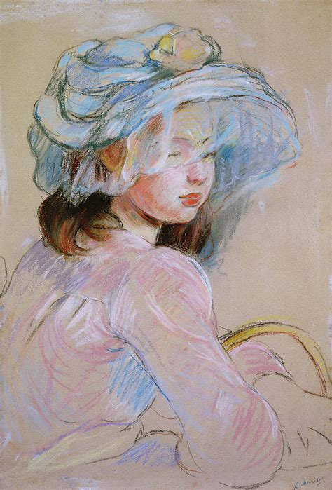 carrying a basket painting by berthe morisot