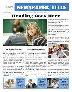 1000 Images About Newspaper Layout On Pinterest 1000 Images About Newspaper Template On