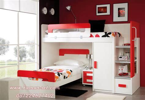 model ranjang susun minimalis set tempat tidur tingkat