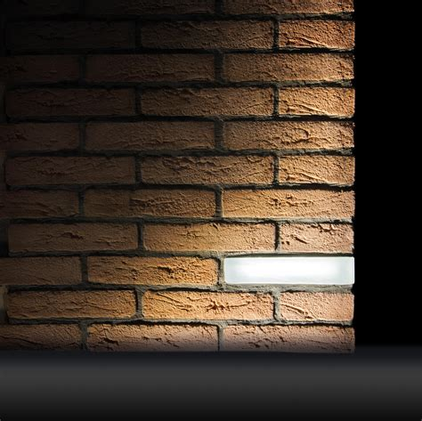 brick light wall recessed outdoor recessed wall lights