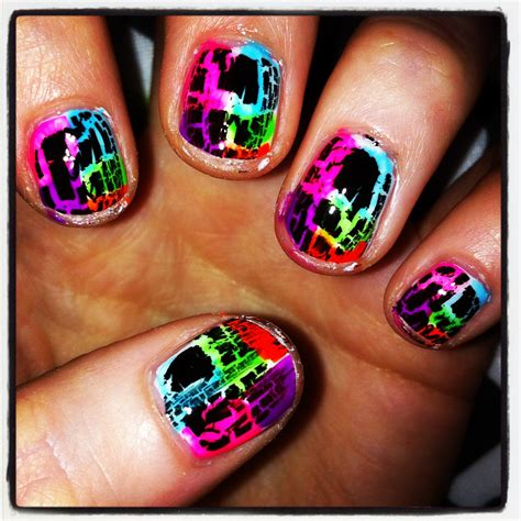 Crackle Nail by Post 11 Rainbow Crackle Nails Jemm Frances Says So
