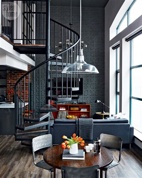industrial interiors home decor loft tour retro industrial design spiral staircases staircases and lofts