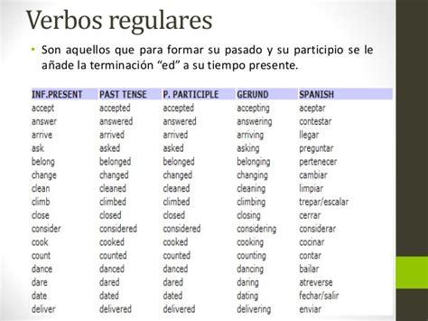 preguntas en pasado simple con verbos regulares en ingles 40 verbos en ingle en pasado presente y futuro brainly lat