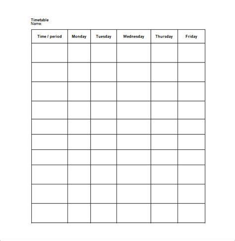 free blank schedule template calendar template 2016